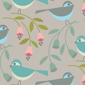 birds and blooms /  large scale