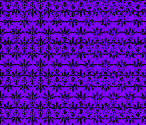 Peace_Floral_Pattern_Purple fabric by stradling_designs on Spoonflower - custom fabric