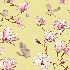 birds and magnolias