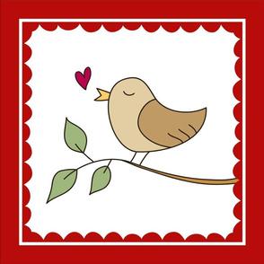 lovebird pillow