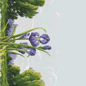 Edwardian Iris Border Print