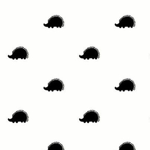 Black and white Hedgehog Dots