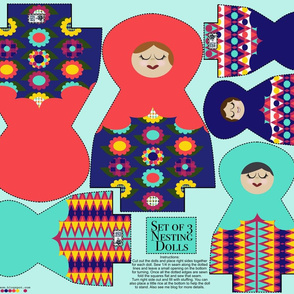 Nesting Dolls Plush Cut and Sew