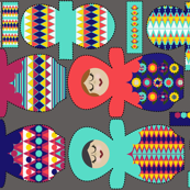Nesting Dolls Cloth Pads for Pique`
