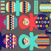 Nesting Dolls Cloth Pads for Pique`