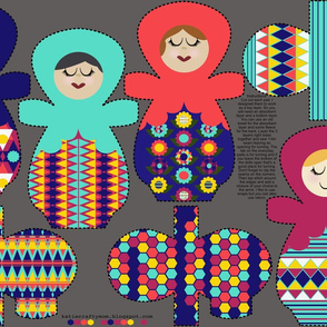 Nesting Dolls Cloth Pads Piqué