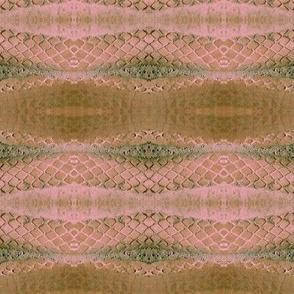 Horizontal Snakeskin (Blush & Brown)