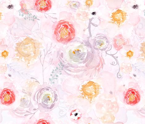 Floral Sunset fabric by michellehemeon on Spoonflower - custom fabric