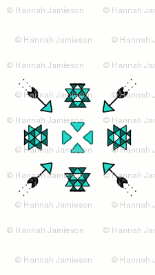 Geometric Tribal Triangle and Arrows