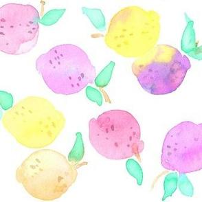 pinkie lemons on white