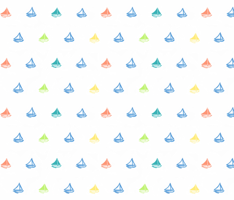 Sail away multi colors fabric by doodleandcharm_ on Spoonflower - custom fabric