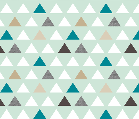 mod mint teal triangles fabric by mrshervi on Spoonflower - custom fabric