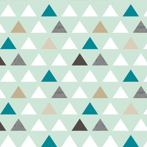 mod mint teal triangles