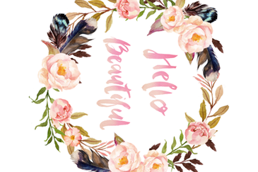 "42""x36"" Hello Beautiful / MINKY fabric by shopcabin on Spoonflower - custom fabric"