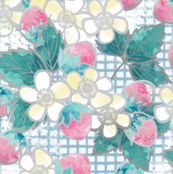 Strawberry Picking Floral Print