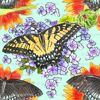 watercolor_swallowtails_4_8x8