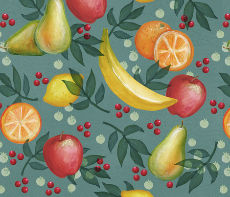 Favorite_Fruits fabric by _jean_ruth on Spoonflower - custom fabric