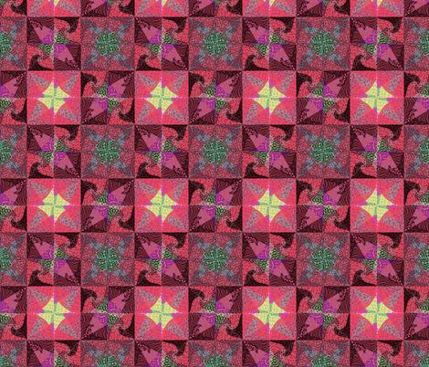 rosy dawn tiles fabric by twigsandblossoms on Spoonflower - custom fabric