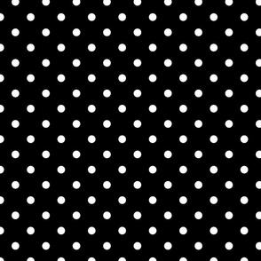 Licorice Black and White Polka Dots