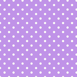 Lilac and White Polka Dots