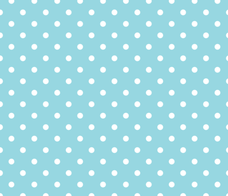 Sky Blue And White Polka Dots