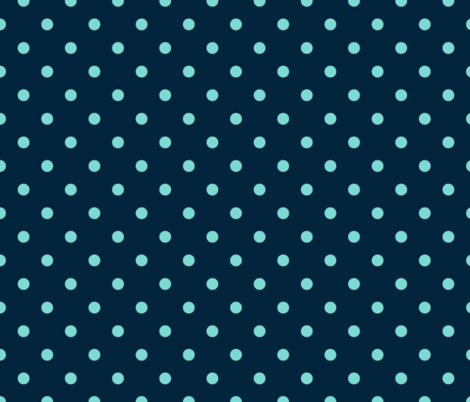 Navy and Turquoise Polka Dots fabric by paper_and_frill on Spoonflower - custom fabric