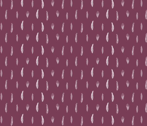 Fine Feathers Mauve fabric by katebillingsley on Spoonflower - custom fabric