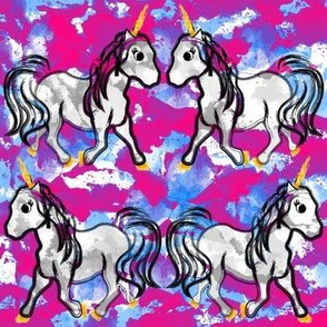 Unicorns on Watercolor