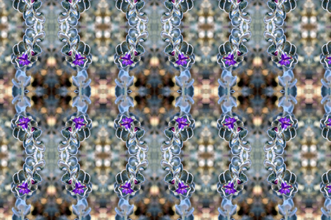 Fuzzy Flower fabric by tasundry on Spoonflower - custom fabric