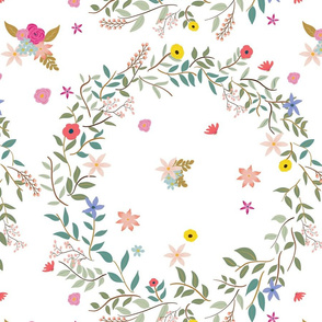 Floral Wreath Pink
