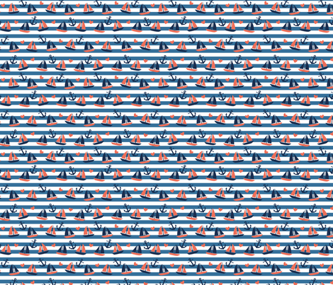 nautical boat fabric by laura_may_designs on Spoonflower - custom fabric