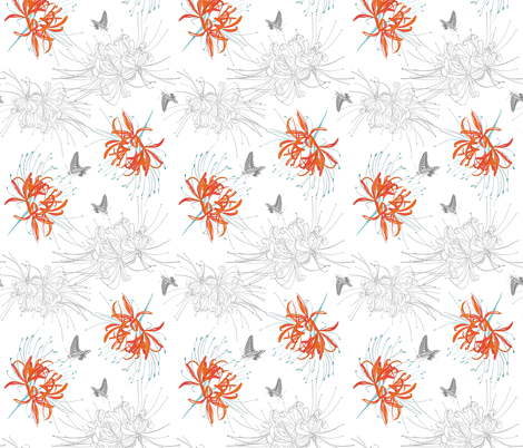 spider lily-melanieortner fabric by melanio on Spoonflower - custom fabric