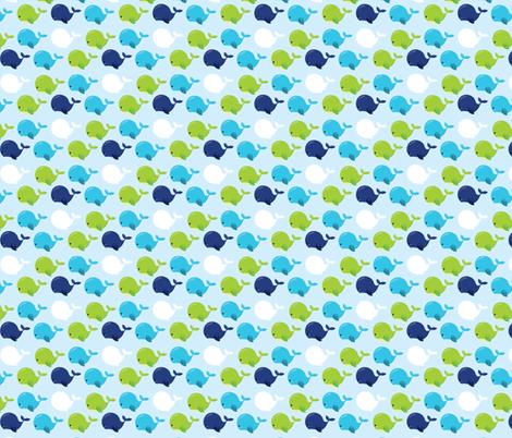 Navy and Green Nautical 02 fabric by prettygrafik on Spoonflower - custom fabric