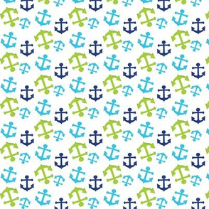 Navy and Green Nautical 06