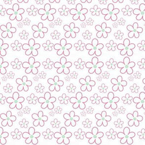 Pink and Mint Green Florals 13