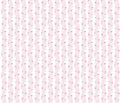 Pink and Mint Green Florals 14 fabric by prettygrafik on Spoonflower - custom fabric