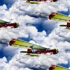 aircraft in the clouds