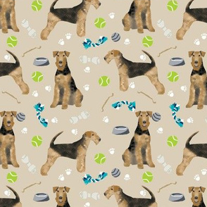 Airedale Terrier toys dog breed fabric sand