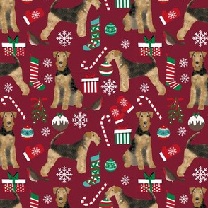 Airedale Terrier christmas dog breed fabric 2