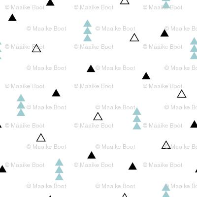 Cool Scandinavian style mini triangle geometric arrow print gender neutral blue