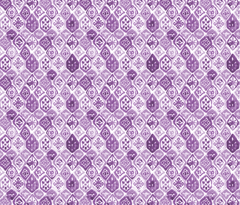 "8"" Lilac Shibori / White Background fabric by shopcabin on Spoonflower - custom fabric"
