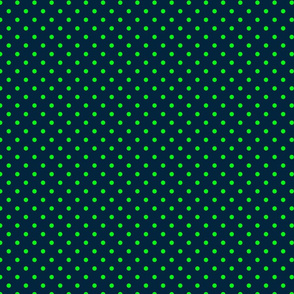 Mini Navy-and-Lime-Polka-Dots