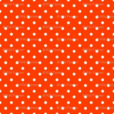 Orange-Pop-and-White-Polka-Dots