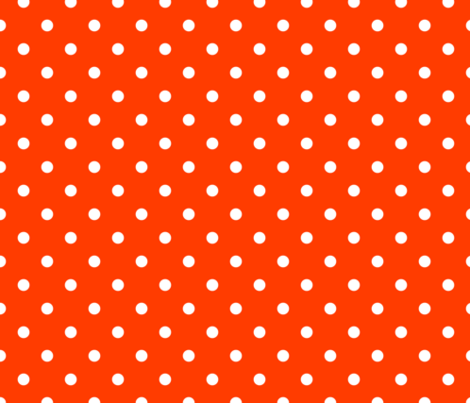 Orange-Pop-and-White-Polka-Dots fabric by paper_and_frill on Spoonflower - custom fabric