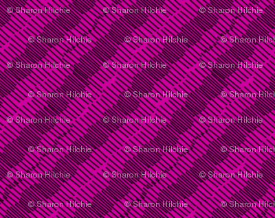 Small Black Lines on Pink