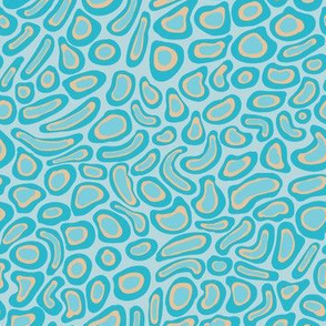 Multicolored Splotches Teal