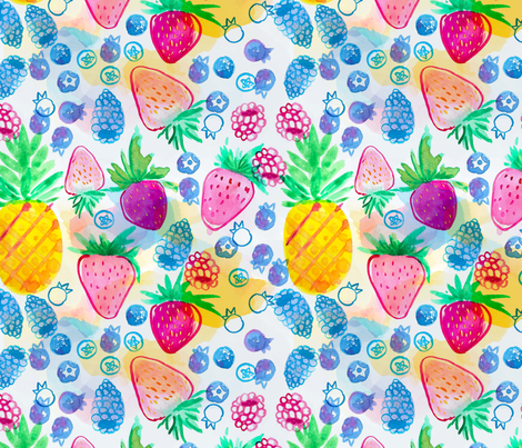 Pineapple Berry Punch fabric by madiha_yearwood on Spoonflower - custom fabric