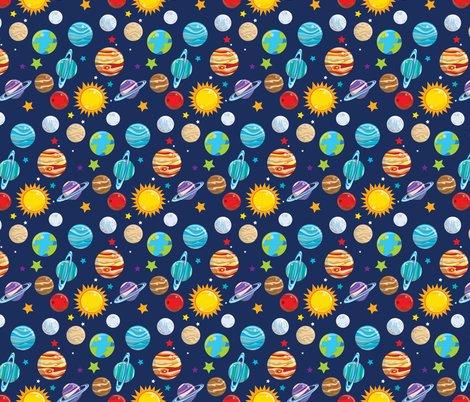 Solar system 02 fabric prettygrafik spoonflower for Solar system fabric