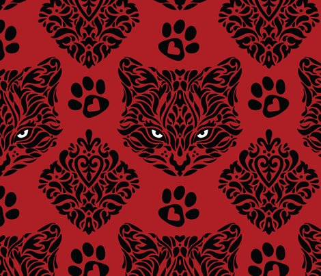 Cat_damask_red_bkgd_shop_preview
