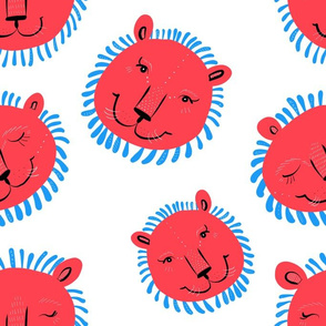 Red and Blue Lions - Larger Scale